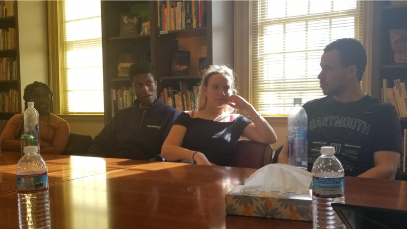 Students in Choate House Library